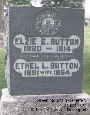 SUTTON, ELZIE E. - Boulder County, Colorado | ELZIE E. SUTTON - Colorado Gravestone Photos
