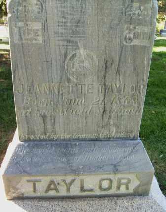 TAYLOR, JEANNETTE - Boulder County, Colorado   JEANNETTE TAYLOR - Colorado Gravestone Photos