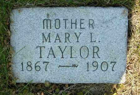 TAYLOR, MARY L. - Boulder County, Colorado | MARY L. TAYLOR - Colorado Gravestone Photos