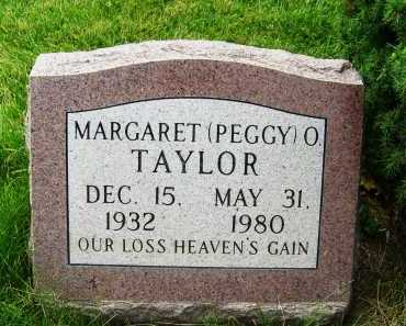 TAYLOR, MARGARET (PEGGY) O. - Boulder County, Colorado | MARGARET (PEGGY) O. TAYLOR - Colorado Gravestone Photos