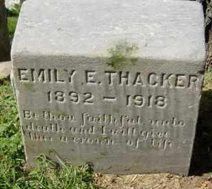 THACKER, EMILY E. - Boulder County, Colorado | EMILY E. THACKER - Colorado Gravestone Photos