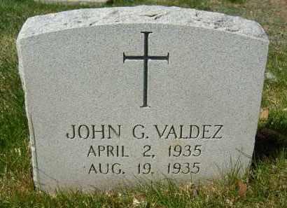 VALDEZ, JOHN G. - Boulder County, Colorado | JOHN G. VALDEZ - Colorado Gravestone Photos