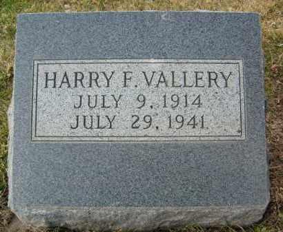 VALLERY, HARRY F. - Boulder County, Colorado | HARRY F. VALLERY - Colorado Gravestone Photos