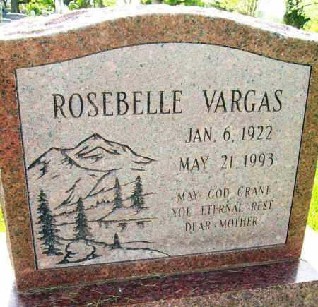 VARGAS, ROSEBELLE - Boulder County, Colorado   ROSEBELLE VARGAS - Colorado Gravestone Photos