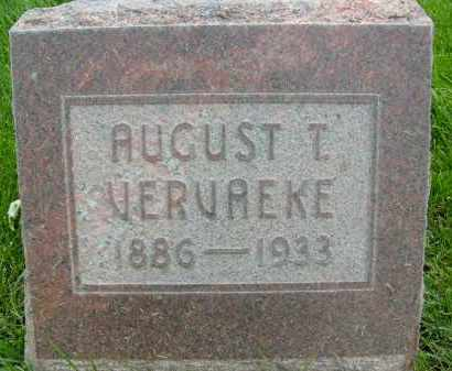 VERVAEKE, AUGUST T. - Boulder County, Colorado | AUGUST T. VERVAEKE - Colorado Gravestone Photos