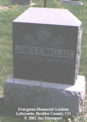 WALLACE, JAMES R. - Boulder County, Colorado | JAMES R. WALLACE - Colorado Gravestone Photos