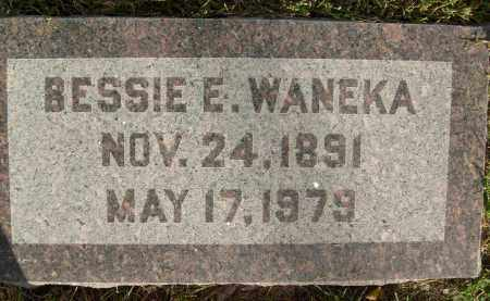 WANEKA, BESSIE E. - Boulder County, Colorado   BESSIE E. WANEKA - Colorado Gravestone Photos