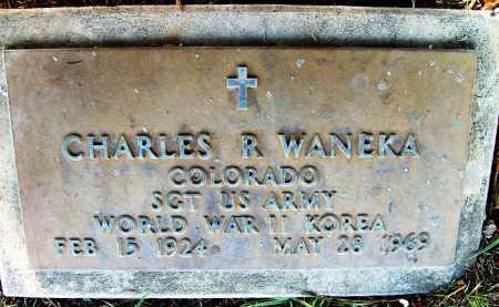 WANEKA, CHARLES R. - Boulder County, Colorado   CHARLES R. WANEKA - Colorado Gravestone Photos