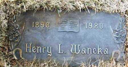 WANEKA, HENRY L. - Boulder County, Colorado | HENRY L. WANEKA - Colorado Gravestone Photos