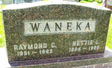 WANEKA, NETTIE I. - Boulder County, Colorado | NETTIE I. WANEKA - Colorado Gravestone Photos