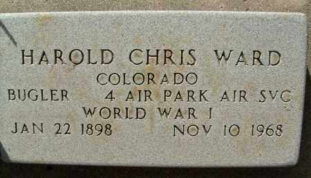 WARD, HAROLD CHRIS - Boulder County, Colorado | HAROLD CHRIS WARD - Colorado Gravestone Photos