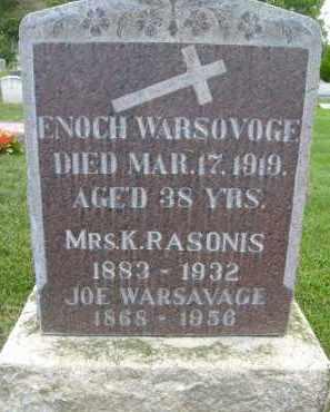 WARSOVOGE, ENOCH - Boulder County, Colorado | ENOCH WARSOVOGE - Colorado Gravestone Photos