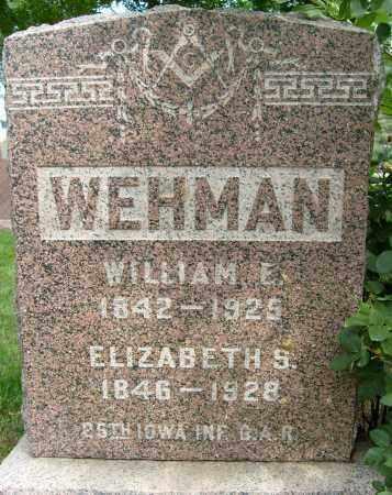WEHMAN, WILLIAM E. - Boulder County, Colorado   WILLIAM E. WEHMAN - Colorado Gravestone Photos