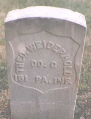 WEIDERHOLD, THEO. - Boulder County, Colorado | THEO. WEIDERHOLD - Colorado Gravestone Photos