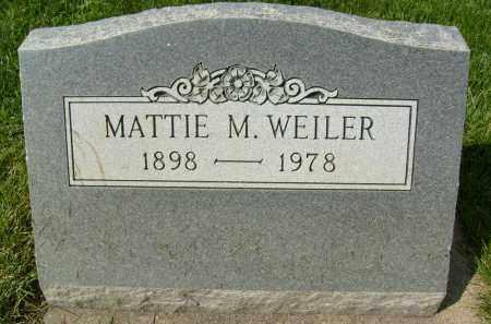 WEILER, MATTIE M. - Boulder County, Colorado | MATTIE M. WEILER - Colorado Gravestone Photos