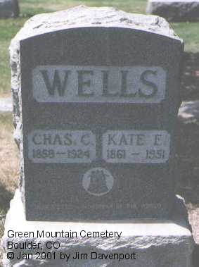 WELLS, CHARLES C. - Boulder County, Colorado | CHARLES C. WELLS - Colorado Gravestone Photos
