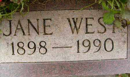 WEST, JANE - Boulder County, Colorado | JANE WEST - Colorado Gravestone Photos