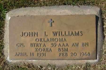 WILLIAMS, JOHN L. - Boulder County, Colorado   JOHN L. WILLIAMS - Colorado Gravestone Photos
