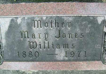 WILLIAMS, MARY (JONES) - Boulder County, Colorado   MARY (JONES) WILLIAMS - Colorado Gravestone Photos