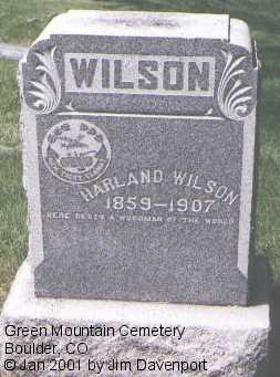 WILSON, HARLAND - Boulder County, Colorado | HARLAND WILSON - Colorado Gravestone Photos