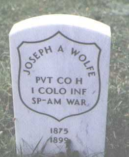 WOLFE, JOSEPH A. - Boulder County, Colorado | JOSEPH A. WOLFE - Colorado Gravestone Photos