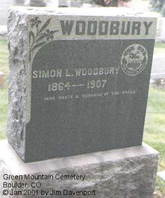 WOODBURY, SIMON L. - Boulder County, Colorado | SIMON L. WOODBURY - Colorado Gravestone Photos