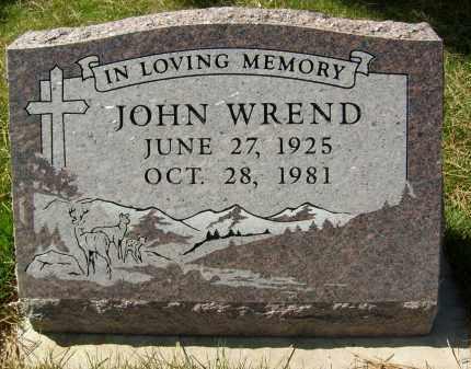 WREND, JOHN - Boulder County, Colorado | JOHN WREND - Colorado Gravestone Photos