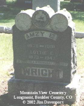 WRIGHT, LOTTIE E. - Boulder County, Colorado | LOTTIE E. WRIGHT - Colorado Gravestone Photos