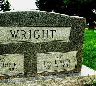 "WRIGHT, IDA LOUISE ""PAT"" - Boulder County, Colorado | IDA LOUISE ""PAT"" WRIGHT - Colorado Gravestone Photos"
