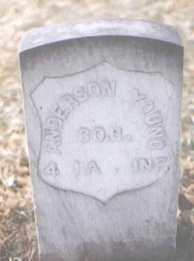 YOUNG, ANDERSON - Boulder County, Colorado   ANDERSON YOUNG - Colorado Gravestone Photos