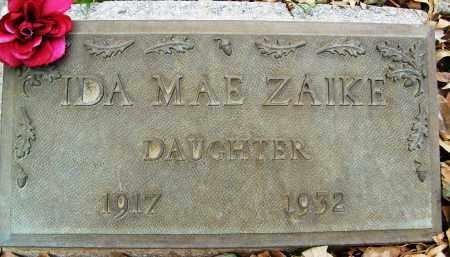 ZAIKE, IDA MAE - Boulder County, Colorado | IDA MAE ZAIKE - Colorado Gravestone Photos
