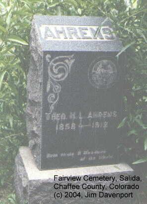 AHERNS, THEO. H. L. - Chaffee County, Colorado | THEO. H. L. AHERNS - Colorado Gravestone Photos