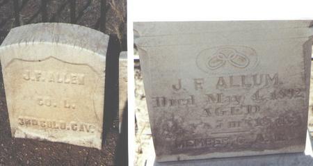 ALLUM, J. F. - Chaffee County, Colorado | J. F. ALLUM - Colorado Gravestone Photos