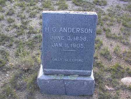 ANDERSON, H G - Chaffee County, Colorado | H G ANDERSON - Colorado Gravestone Photos