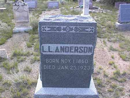 ANDERSON, L L - Chaffee County, Colorado | L L ANDERSON - Colorado Gravestone Photos