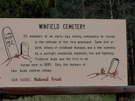 AUDE, FREDRICK - Chaffee County, Colorado | FREDRICK AUDE - Colorado Gravestone Photos
