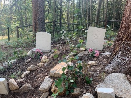 AUDE, FREDERICK & GEORGINA - Chaffee County, Colorado   FREDERICK & GEORGINA AUDE - Colorado Gravestone Photos