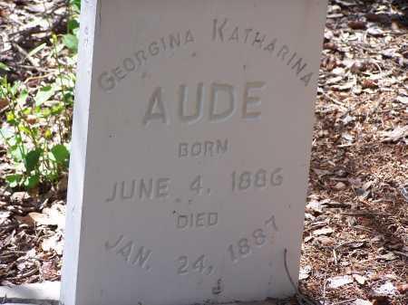 AUDE, GEORGINA KATHARINA - Chaffee County, Colorado   GEORGINA KATHARINA AUDE - Colorado Gravestone Photos