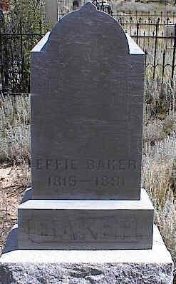 BAKER, EFFIE - Chaffee County, Colorado   EFFIE BAKER - Colorado Gravestone Photos
