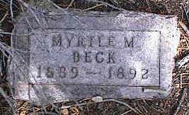 BECK, MYRTLE M. - Chaffee County, Colorado | MYRTLE M. BECK - Colorado Gravestone Photos