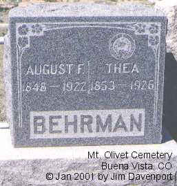 BEHRMAN, THEA - Chaffee County, Colorado | THEA BEHRMAN - Colorado Gravestone Photos