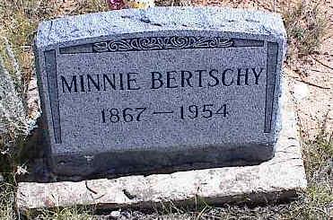 BERTSCHY, MINNIE E. - Chaffee County, Colorado | MINNIE E. BERTSCHY - Colorado Gravestone Photos
