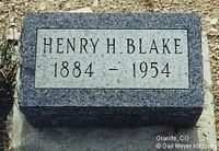 BLAKE, HENRY H. - Chaffee County, Colorado | HENRY H. BLAKE - Colorado Gravestone Photos