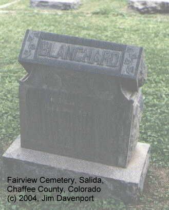 BLANCHARD, HIRAM G. - Chaffee County, Colorado | HIRAM G. BLANCHARD - Colorado Gravestone Photos