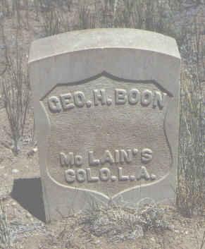 BOON, GEO. H. - Chaffee County, Colorado   GEO. H. BOON - Colorado Gravestone Photos