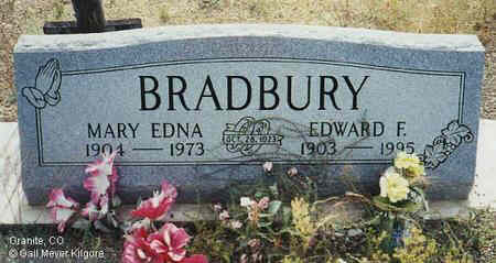 BRADBURY, EDWARD F. - Chaffee County, Colorado | EDWARD F. BRADBURY - Colorado Gravestone Photos