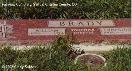 BRADY, WILLIAM - Chaffee County, Colorado | WILLIAM BRADY - Colorado Gravestone Photos