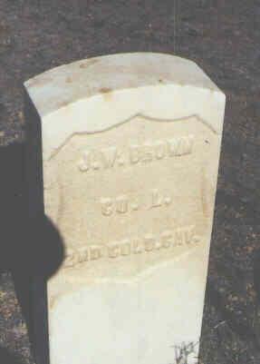 BROWN, J. W. - Chaffee County, Colorado   J. W. BROWN - Colorado Gravestone Photos