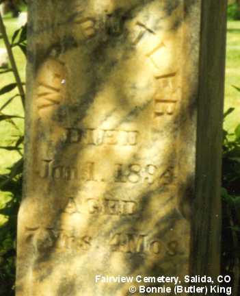 BUTLER, W. P. - Chaffee County, Colorado   W. P. BUTLER - Colorado Gravestone Photos