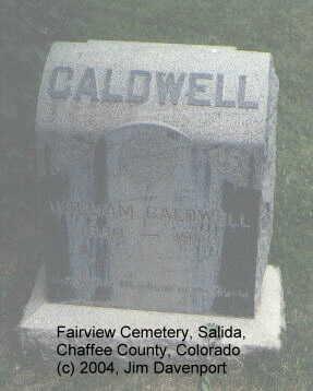 CALDWELL, WILLIAM - Chaffee County, Colorado | WILLIAM CALDWELL - Colorado Gravestone Photos